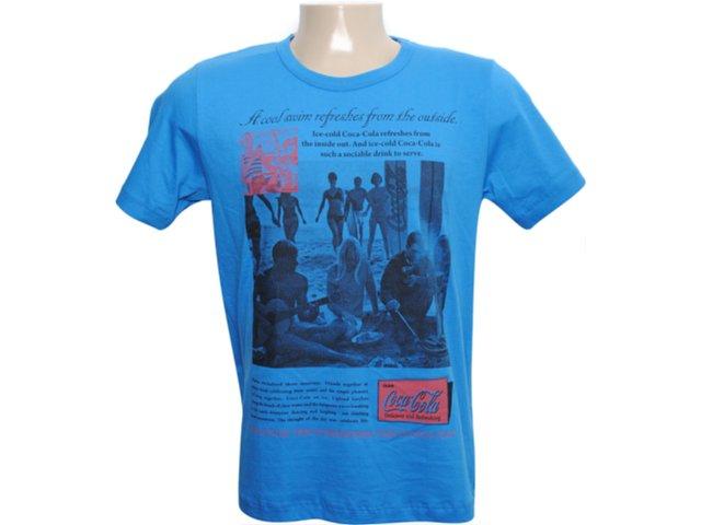 Camiseta Masculina Coca-cola Clothing 353202447 Azul