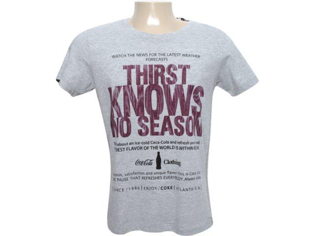 Camiseta Masculina Coca-cola Clothing 353202348 Cinza