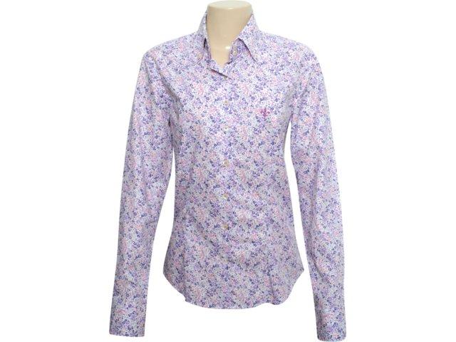 Camisa Feminina Dudalina 232.601.210 Floral Lilas