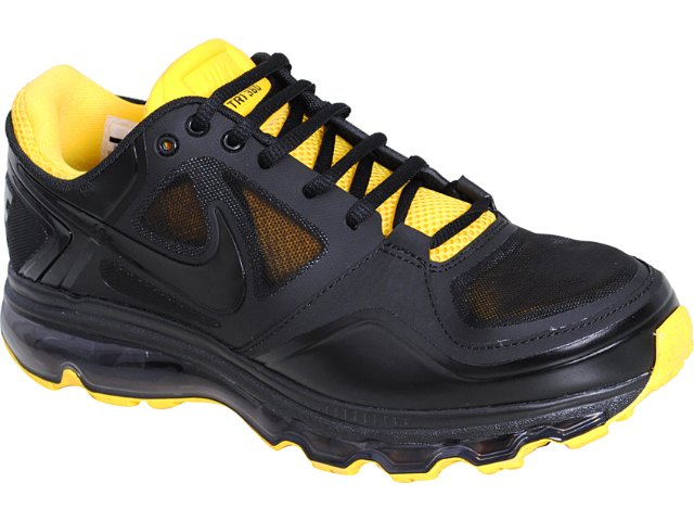 Tênis Masculino Nike Trainer 454174-007 Preto/amarelo