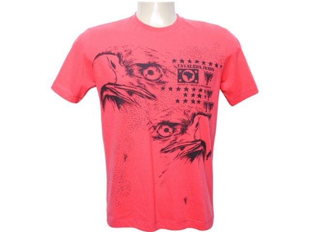 Camiseta Masculina Cavalera Clothing 01.01.5835 Vermelho