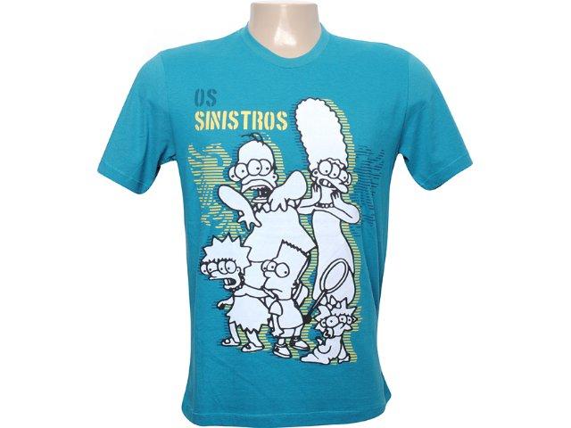 Camiseta Masculina Cavalera Clothing 01.01.5854 Azul