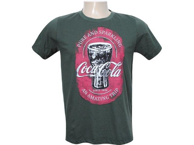 Camiseta Masculina Coca-cola Clothing 353202335 Verde Musgo