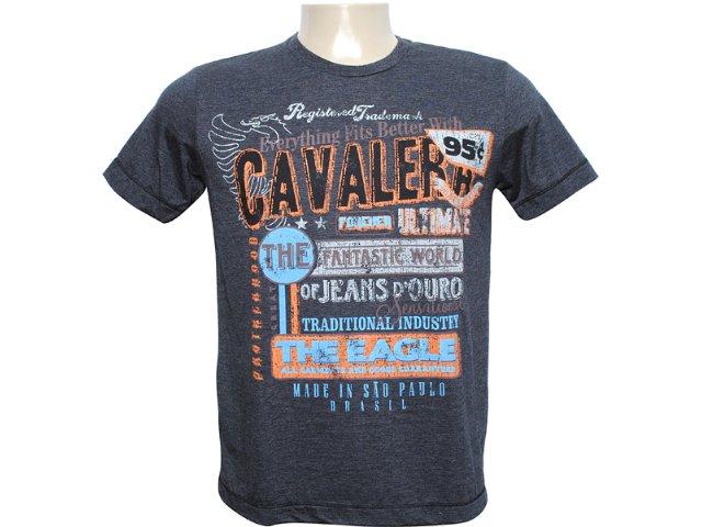 Camiseta Masculina Cavalera Clothing 01.01.6068 Preto
