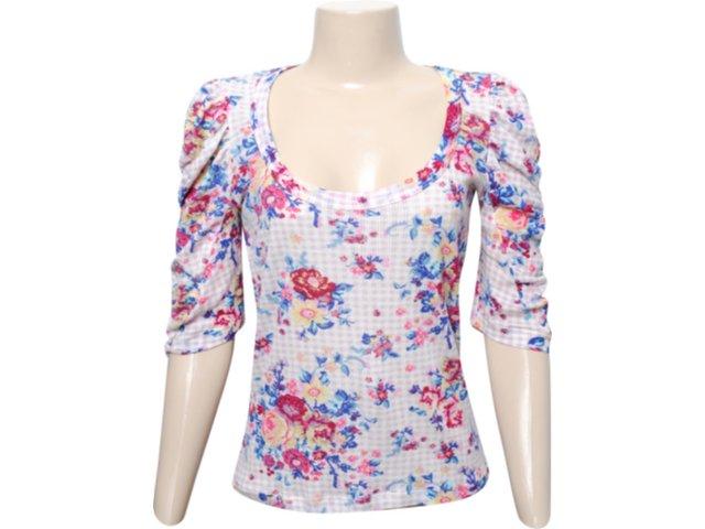 Blusa Feminina Checklist 19.10.2705 Floral Off White