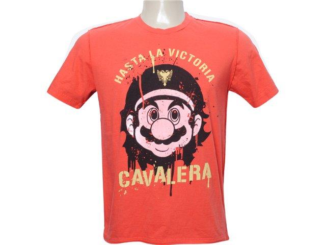 Camiseta Masculina Cavalera Clothing 01.01.5879 Laranja