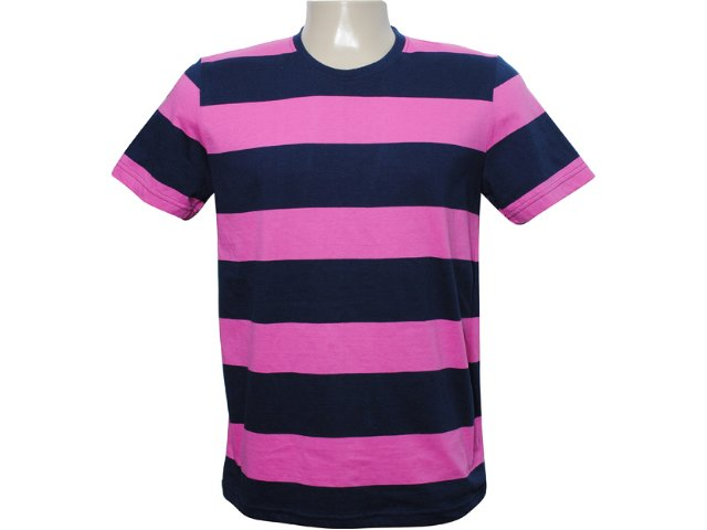 Camiseta Masculina Tng B11mkw26 Rosa/marinho