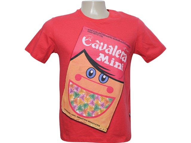 Camiseta Masculina Cavalera Clothing 01.01.5838 Vermelho