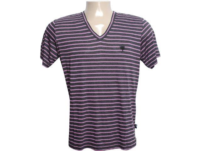 Camiseta Masculina Cavalera Clothing 01.01.6108 Preto/lilas
