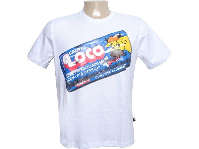 Camiseta Masculina Cavalera Clothing 01.01.6062 Branco