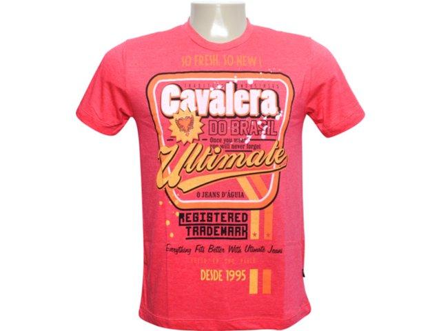 Camiseta Masculina Cavalera Clothing 01.01.6067 Vermelho