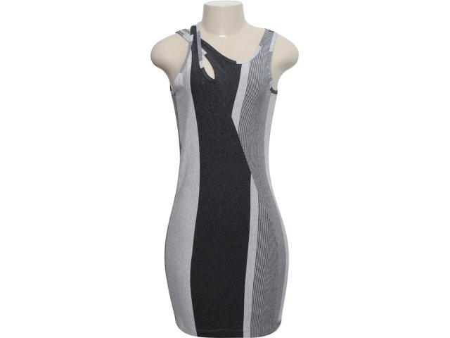 Vestido Feminino Index 13.02.0911 Cinza Claro/escuro