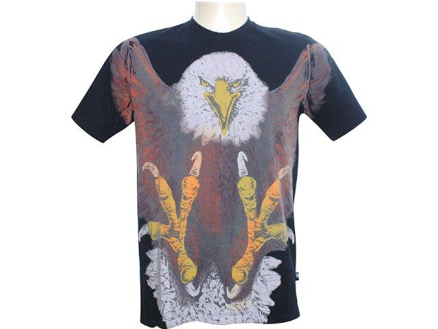 Camiseta Masculina Cavalera Clothing 01.01.6111 Preto