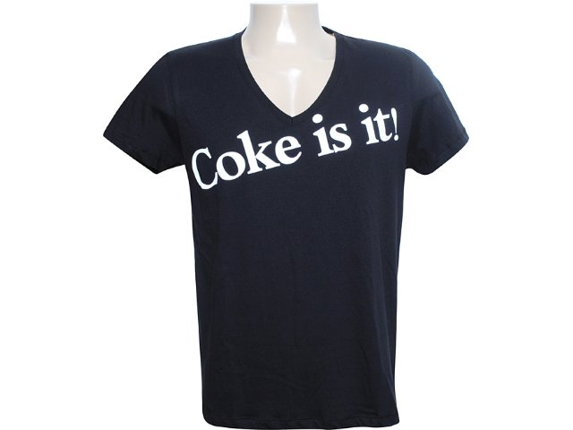 Camiseta Masculina Coca-cola Shoes 353202510 Preto