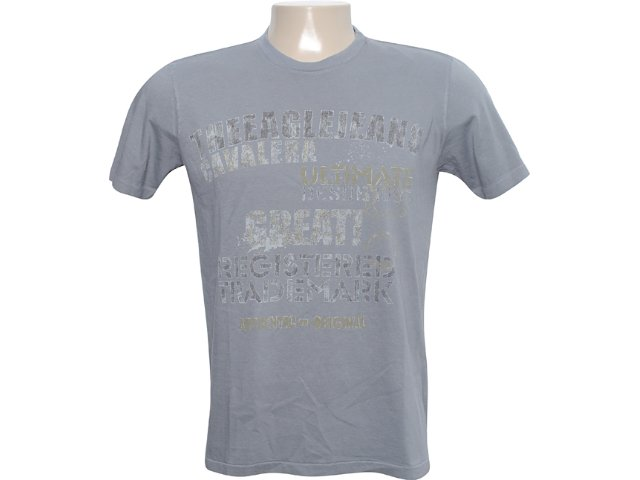 Camiseta Masculina Cavalera Clothing 01.01.6086 Chumbo