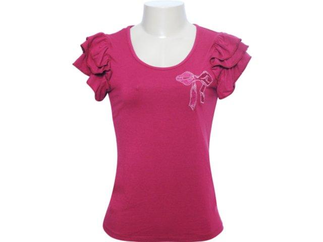 Camiseta Feminina Mineral 92377 Bordo