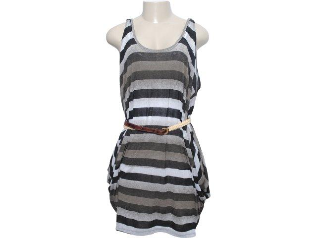 Vestido Feminino Index 13.02.0888 Preto/musgo