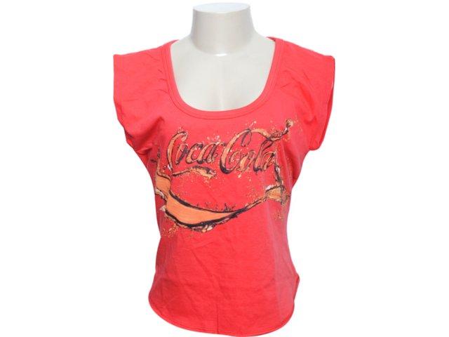 Camiseta Feminina Coca-cola Shoes 343200438 Vermelho