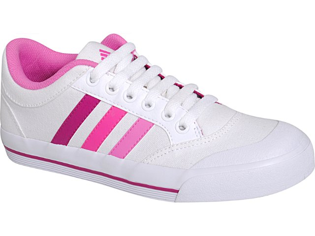 Tênis Feminino Adidas Brasic G41052 Branco/pink