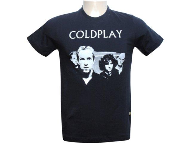 Masculina Cavalera Clothing Cavalera Camiseta Coldplay 01.01.5356 Preto