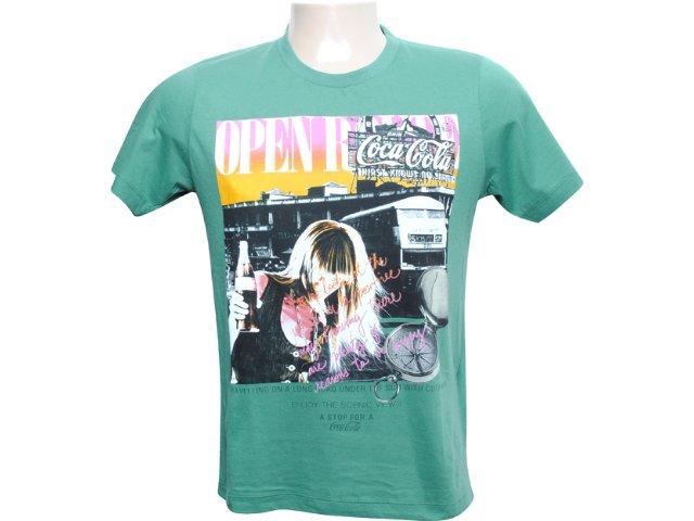 Camiseta Masculina Coca-cola Clothing 353202338 Verde