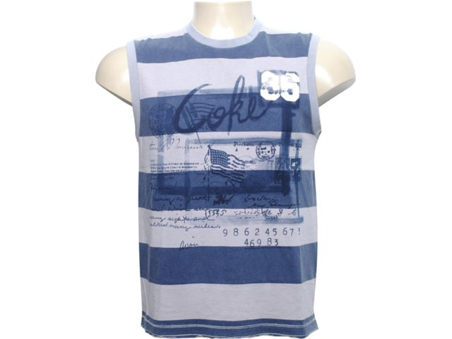 Regata Masculina Coca-cola Clothing Coca-cola 393200063 Cinza