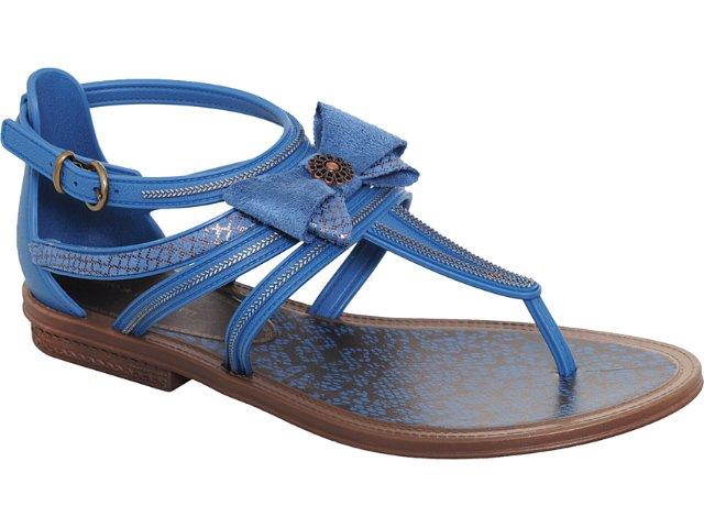 Sandália Feminina Grendene Gisele 16177 Marrom/azul