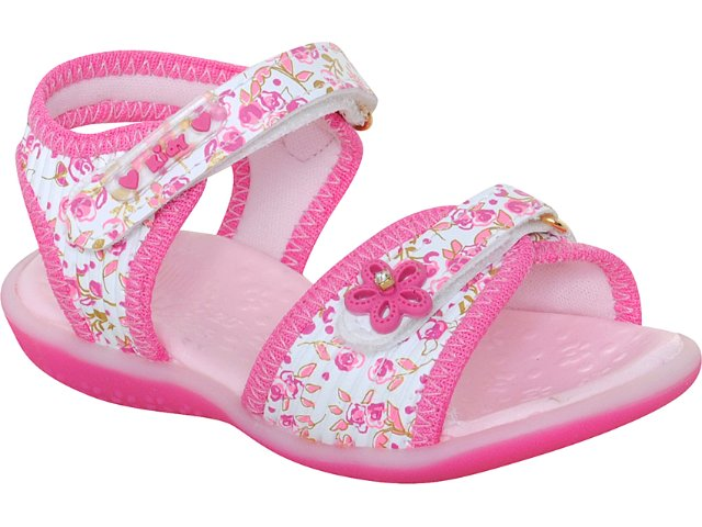 Sandália Fem Infantil Kidy 00203760351 Branco/pink