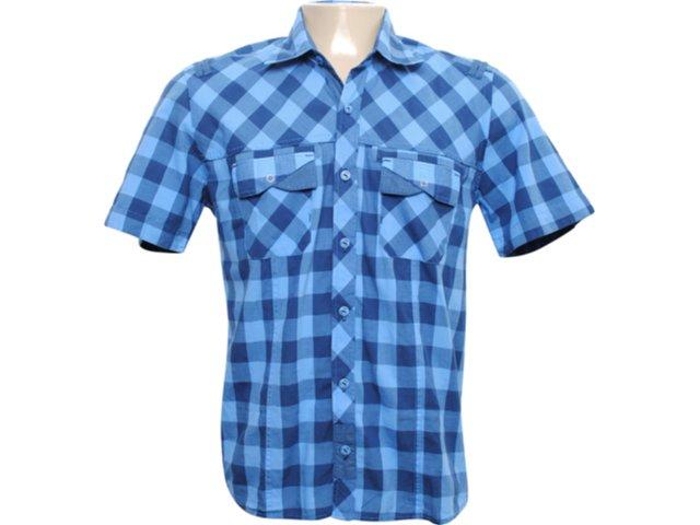 Camisa Masculina dj 01021179 Azul
