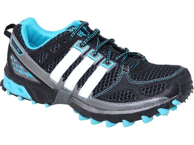 Tênis Feminino Adidas U42351 Kanadia 4 Preto/azul/bco