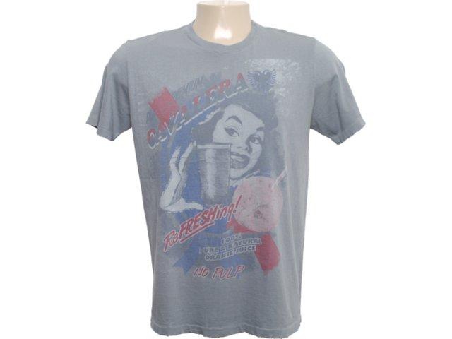 Camiseta Masculina Cavalera Clothing 01.01.6059 Chumbo