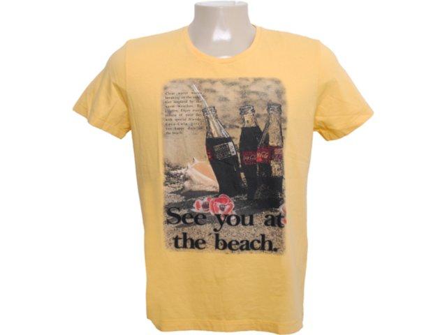 Camiseta Masculina Coca-cola Clothing 353202585 Amarelo