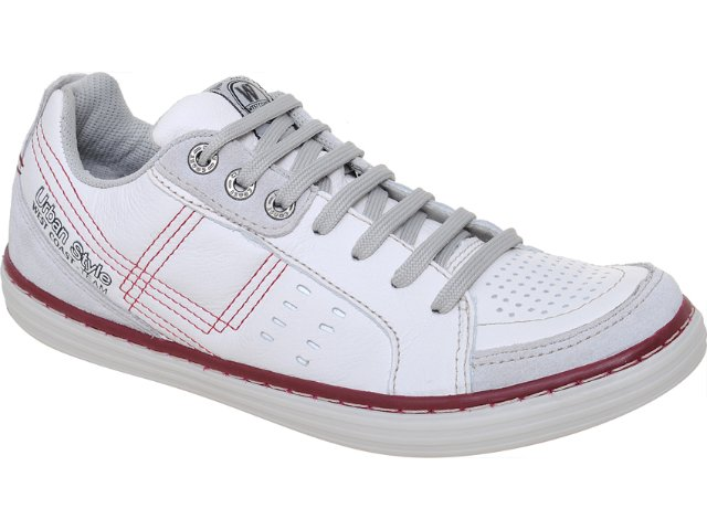 Sapatênis Masculino West Coast 73703/13971 Branco/bordo