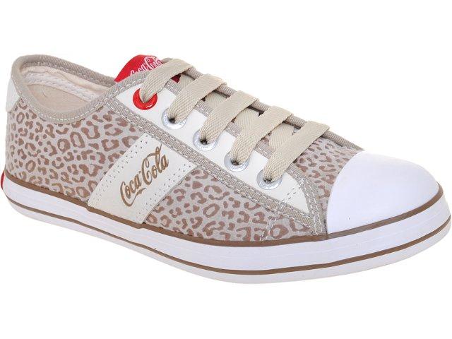 Tênis Feminino Coca-cola Shoes Cc1280002 Caqui