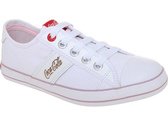 Tênis Feminino Coca-cola Shoes Cc1280001 Branco