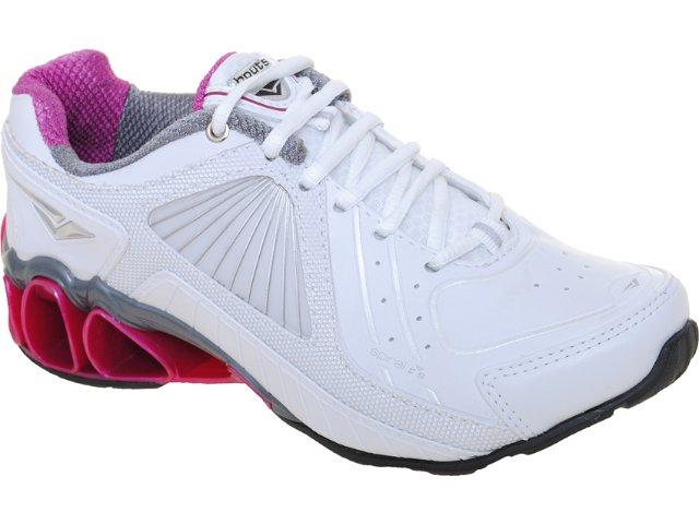 Tênis Feminino Bouts 9412 Bco/chumbo/pink