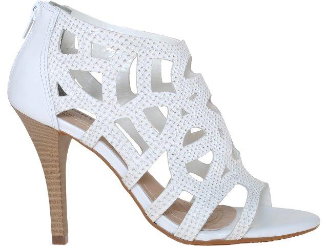 Sandal Boots Feminina Via Marte 11-14809 Branco