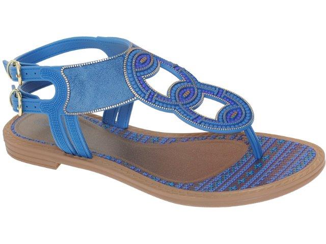 Sandália Feminina Grendene Grendha 16186 Marrom/azul