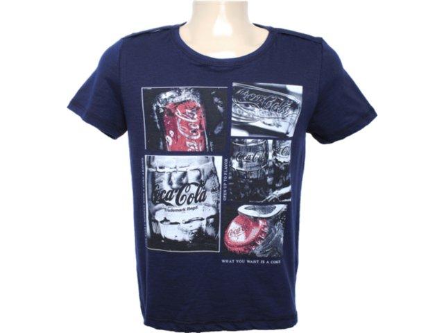 Camiseta Masculina Coca-cola Clothing 353202709 Marinho