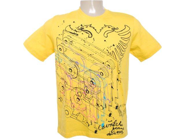 Camiseta Masculina Cavalera Clothing 01.01.6083 Amarelo