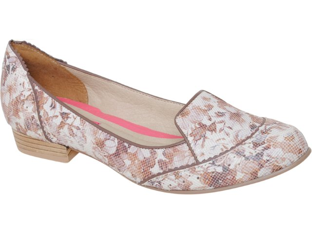 Sapato Feminino Tanara Slipper 2881 Creme