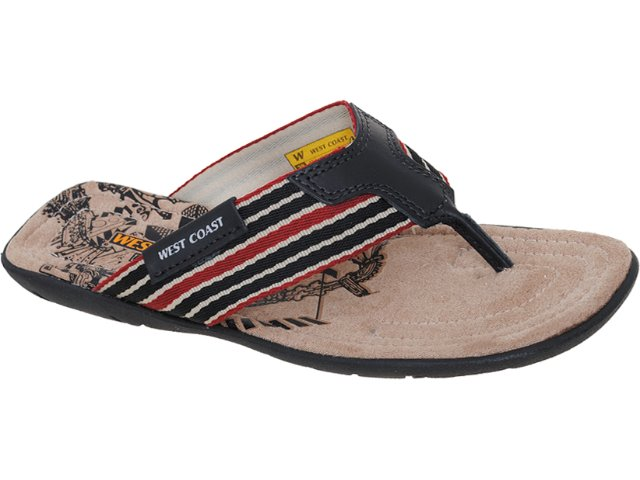 Chinelo Masculino West Coast 47640/0001 Preto