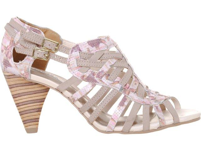 Sandal Boots Feminina Tanara 2613 Creme