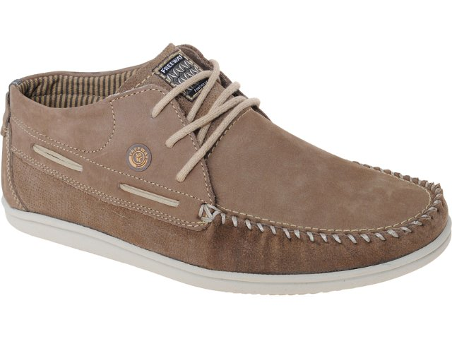Sapato Masculino Free Way Highway 1 Taupe