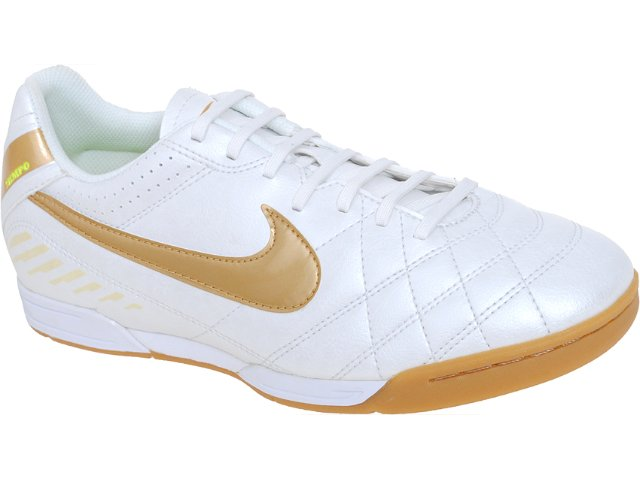 Tênis Masculino Nike Tiempo 454323-177  Perola/dourado