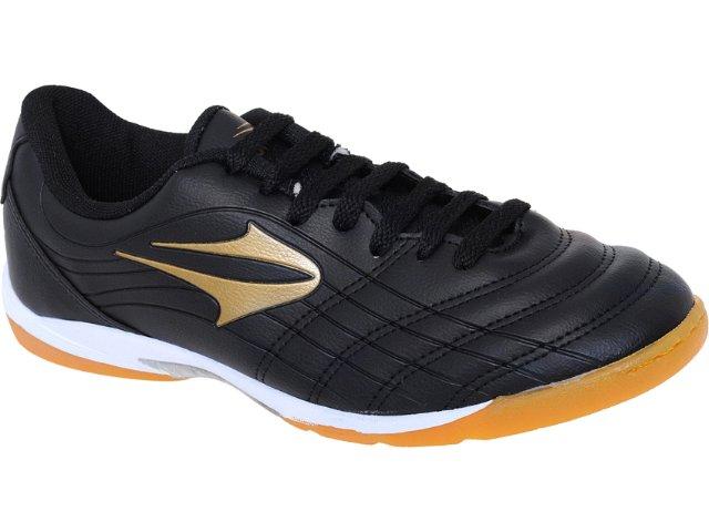 Tênis Masculino Topper 4121674 Clássico Preto/ouro