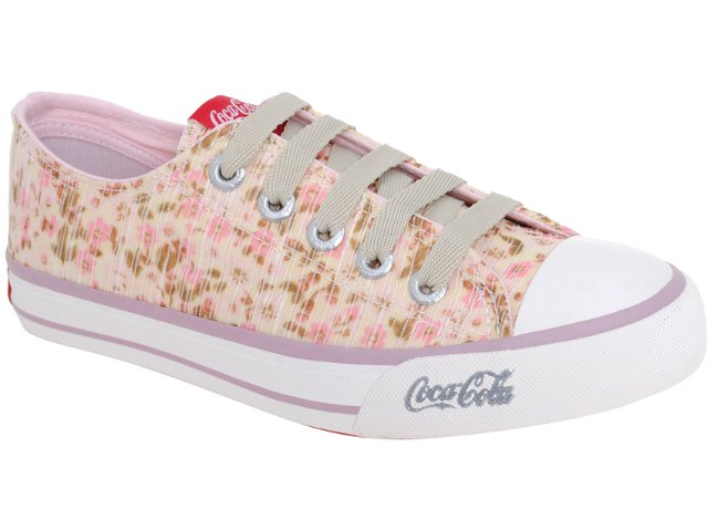 Tênis Feminino Coca-cola Shoes Cc1010001 Rose