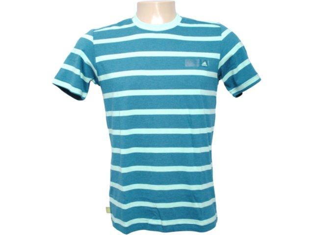 Camiseta Masculina Adidas O04315 Verde Listrado