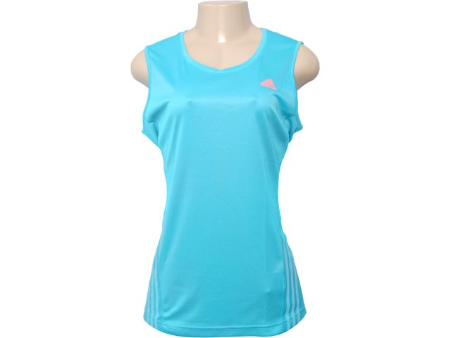 Regata Feminina Adidas V10908 Celeste