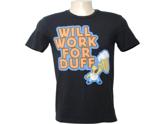 Camiseta Masculina Cavalera Clothing 01.01.6255 Preto